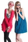 Lovely teenage girls having fun together Stock Photo