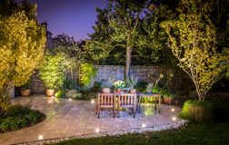 Lovely terrace outside luxury house royalty free stock photography