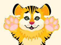 Lovely tiger toddler Stock Photography
