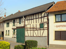 Lovely Timbered House in Altenahr. Old Half-Timbered House in a Small Village in Germany royalty free stock photography