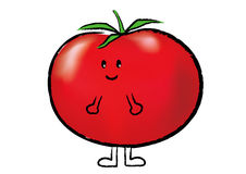 Lovely tomato01. A cute little boy tomato with smile Stock Photos