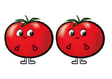 Lovely tomato02. A pair of young lovers intimate tomato Royalty Free Stock Photos