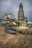 Lovely toned image of seaside town Royalty Free Stock Photography