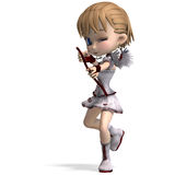 Lovely toon cupid sends you a valentine Royalty Free Stock Photography