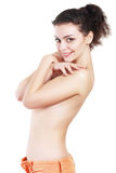 Lovely topless brunette Royalty Free Stock Image
