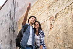 Lovely tourist couple exploring the city Stock Image