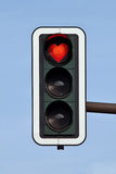Lovely traffic light. Traffic light with a red heart Stock Image