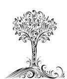 Lovely tree. Cute black and white tree Stock Image