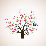 Lovely tree design royalty free stock images