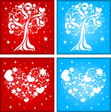 Lovely tree and heart background Royalty Free Stock Photography