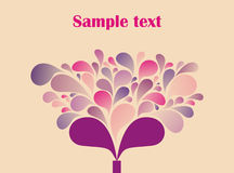 Lovely tree illustration Royalty Free Stock Photos