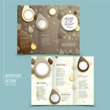 Lovely tri-fold brochure design Royalty Free Stock Images