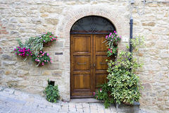 Lovely tuscan doors Stock Image