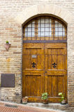 Lovely tuscan doors Royalty Free Stock Photography