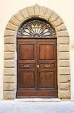 Lovely tuscan doors Royalty Free Stock Photo
