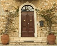 Lovely tuscan front door, Italy Royalty Free Stock Photo