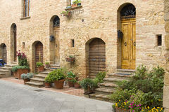 Lovely tuscan street Royalty Free Stock Photo