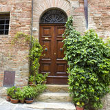 Lovely tuscan street, Montepulciano Stock Photography