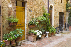 Lovely tuscan street Royalty Free Stock Image