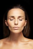Lovely unblemished woman's face Stock Images