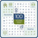 Lovely 100 universal icons set Royalty Free Stock Photography