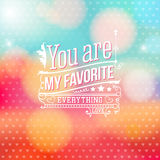 Lovely Valentine card with lettering style. Vector illustration. Royalty Free Stock Photo