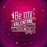 Lovely Valentine card with lettering style. Vector illustration. Royalty Free Stock Photography