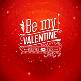 Lovely Valentine card with lettering style. Vector illustration. Stock Photography