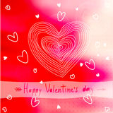 Lovely Valentine card . Vector illustration Royalty Free Stock Image