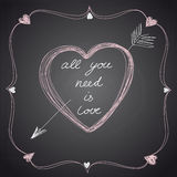 Lovely Valentine card . Vector illustration Royalty Free Stock Photos