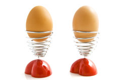 Lovely valentine eggs Stock Images