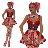 Lovely Valentine girl Stock Image