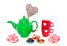 A lovely valentine high-tea Stock Photo