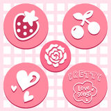 Lovely Valentine icons set great for any use. Vector EPS10. Royalty Free Stock Photography