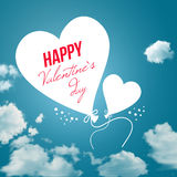 Lovely Valentine`s day card. Vector illustration. Royalty Free Stock Images