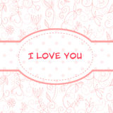 Lovely Valentine's Day floral postcard Royalty Free Stock Image