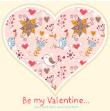 Lovely Valentine's day invitation postcard Royalty Free Stock Images