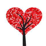 Lovely valentine tree illustration Stock Images