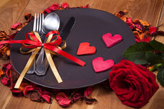 Lovely Valentines dinner Stock Photo