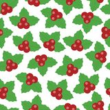 Lovely vector christmas berry seamless pattern royalty free illustration