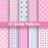 Lovely vector seamless patterns (tiling, with Stock Image
