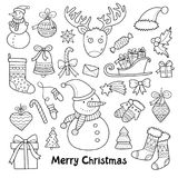 Lovely vector set of christmas and new year icons Stock Photos