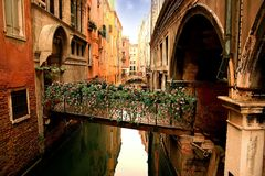 Lovely venetian bridge Royalty Free Stock Photo