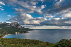 Lovely view of the Bay  Laspi Crimea. Royalty Free Stock Image