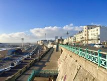 Lovely view of Brighton Pier resort. Brighton Marine Palace and Pier is popular tourist attraction, which opened in 1899. Brighton in United Kingdom Royalty Free Stock Image