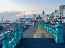 Lovely view of Brighton Pier resort. Brighton Marine Palace and Pier is popular tourist attraction, which opened in 1899. Brighton in United Kingdom Stock Photography