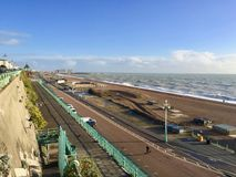 Lovely view of Brighton Pier resort. Brighton Marine Palace and Pier is popular tourist attraction, which opened in 1899. Brighton in United Kingdom Royalty Free Stock Photo