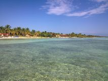 Cuban beach. Lovely view of the Cuban beach in Cayo Guilermo Royalty Free Stock Image