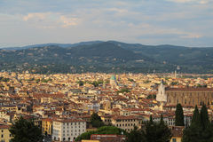 Lovely view of the Florence, Italy. Beautiful view over the city of Florence, Italy Royalty Free Stock Photography