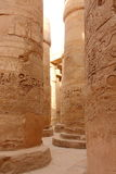 Lovely view of the Great Hypostyle Hall of the Temple of Karnak during a warm easter evening. Luxor, Egypt Stock Photography